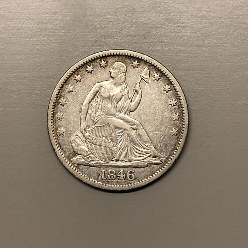 1846-O Med. Date Seated Half