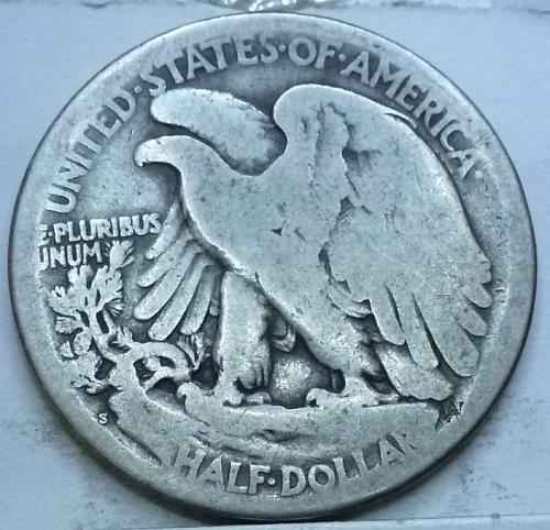 1917-S Reverse Good Walking Liberty Half Dollar  ( 1022A )