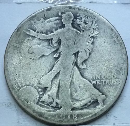 1918-D Good Walking Liberty Half Dollar  ( 1022B )