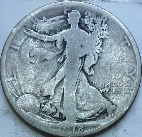 1918-D Good Walking Liberty Half Dollar  ( 1022C )