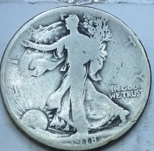 1918-P Good Walking Liberty Half Dollar  ( 1022D )