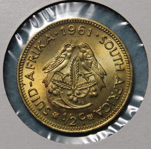 South Africa 1961 half cent