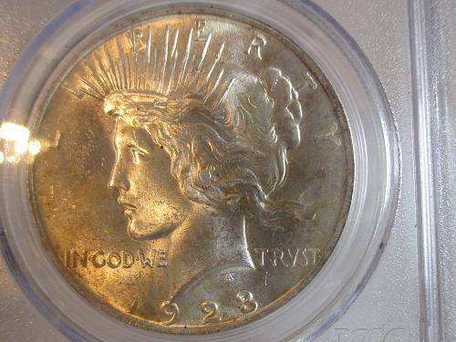 1923 P Peace Dollar  #3          IN PCGS SLAB -BEAUTIFUL COIN