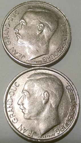 Luxembourg 1 Franc 1977 & 1978