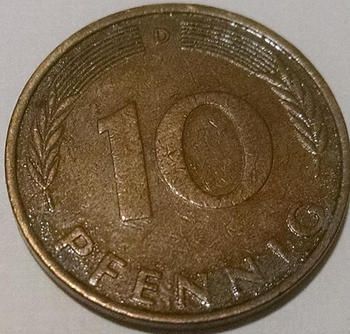 German 1971 10 Pfennig