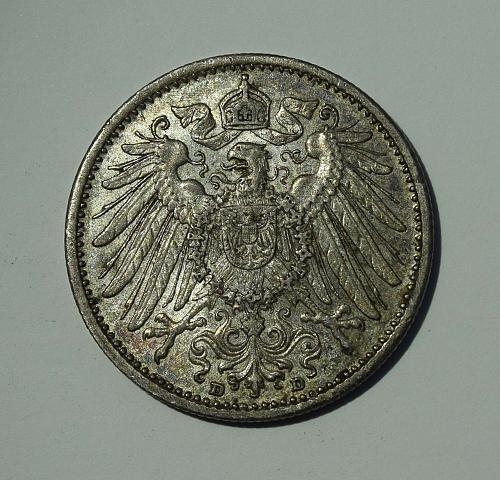 1908 D Germany - Empire Mark - Silver - Toned
