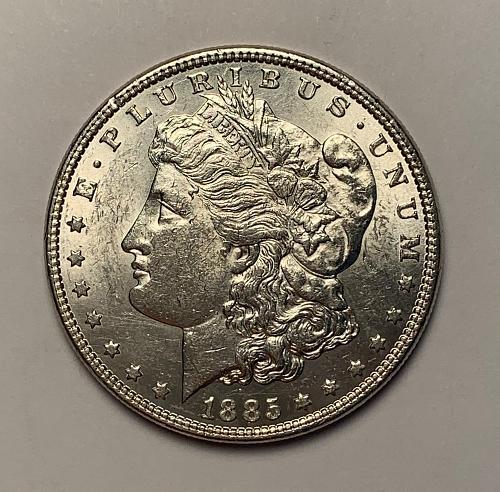 1885 Morgan Silver Dollar UNC [MDL 153]