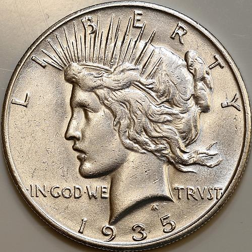 1935 S Peace Silver Dollar - Choice BU / MS / UNC