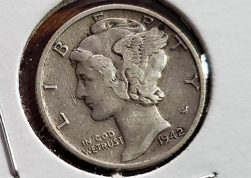 1942 D Mercury Dime - 0004