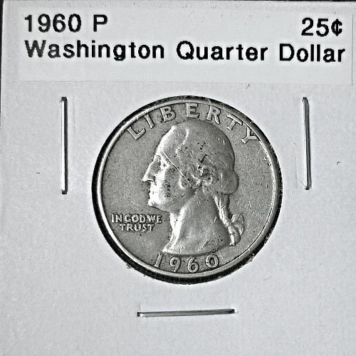 1960 P Washington Quarter Dollar - 6 Photos!