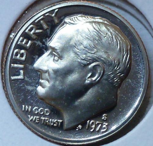1973-S GEM Brilliant Proof Roosevelt Dime (305)