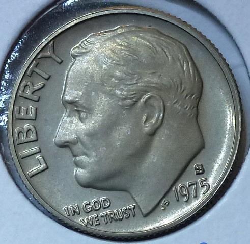 1975-S GEM Brilliant Proof Roosevelt Dime (307)