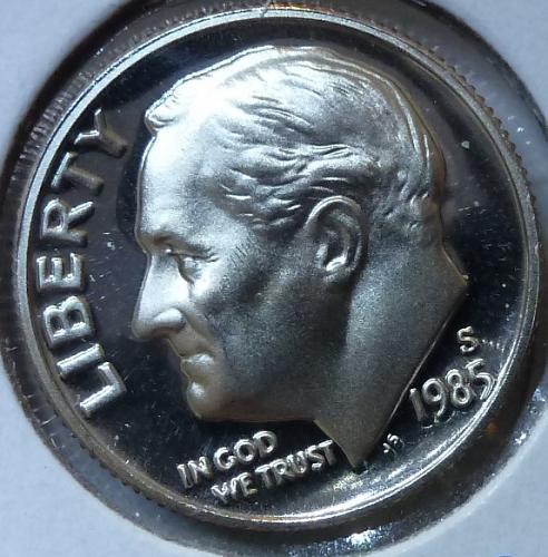 1985-S GEM Brilliant Proof Roosevelt Dime (315)