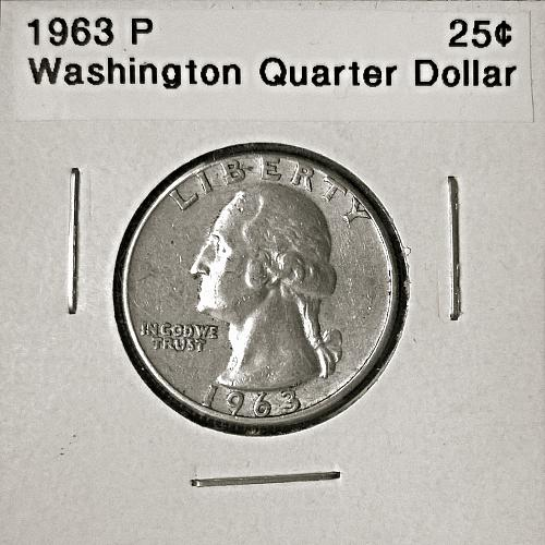 1963 P Washington Quarter Dollar - 6 Photos!