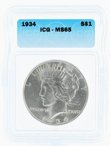1934 ICG MS65 S$1