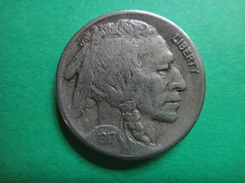 1917-S Buffalo Nickel Extra Fine-40 Nice Uniform Bold Defintion!
