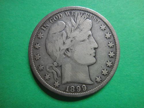 1899 Barber Half Dollar Fine-12 Nice Eye Appeal!