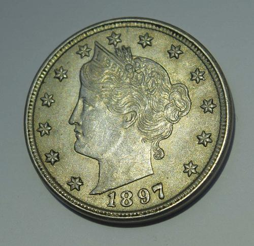 1897 P Liberty Head V Nickel