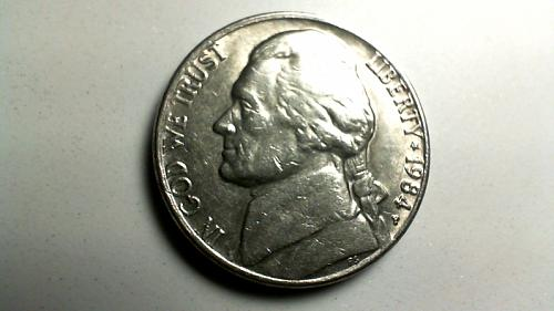 1984 P Jefferson Nickels