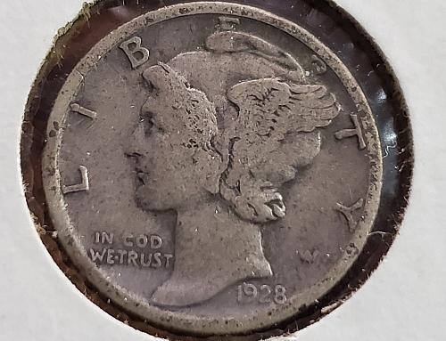 1928 P Mercury Dime - 0036