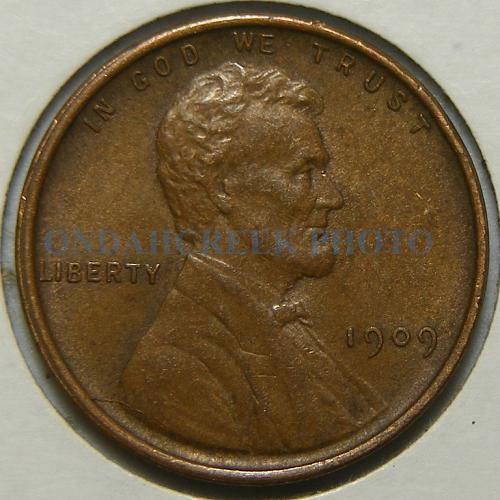 1909 VDB Lincoln Cent Doubled Die Reverse AU