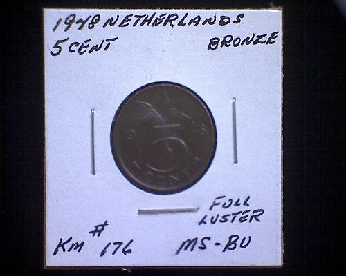 1948 NETHERLANDS FIVE CENT