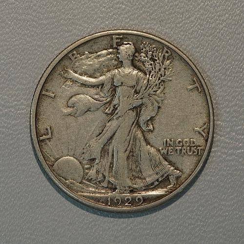 1929-D XF Walking Liberty Half, tough date with a lot of detail remainin