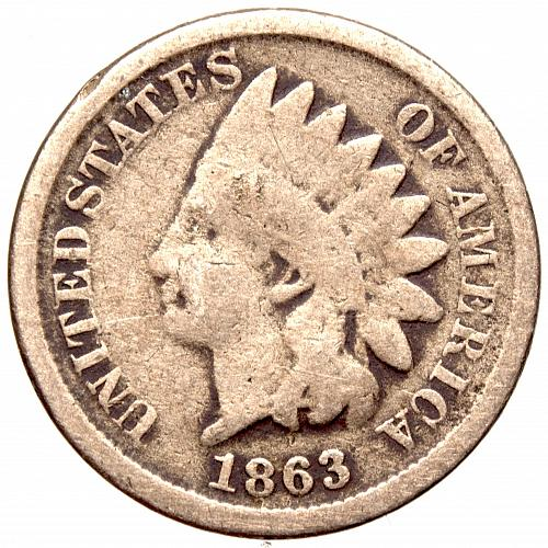 1863 Indian Head Cent #32