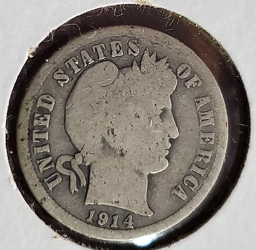 1914 P Barber Dime - 0060