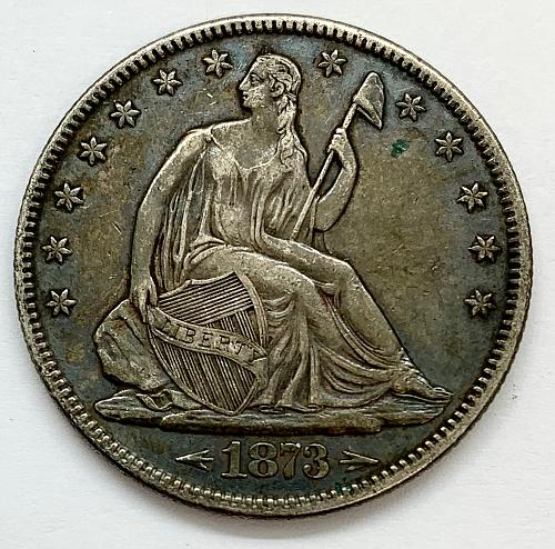 1873 Seated Liberty Half Dollar - Arrows at Date