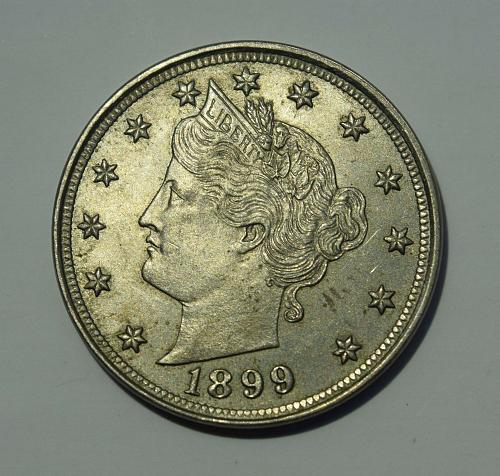 1899 P Liberty Head V Nickel