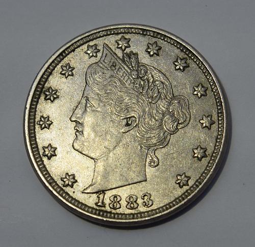 1883 P Liberty Head V Nickel -  No Cents