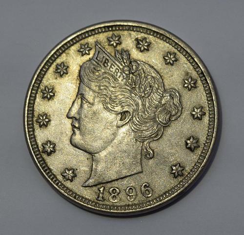 1896 P Liberty Head V Nickel