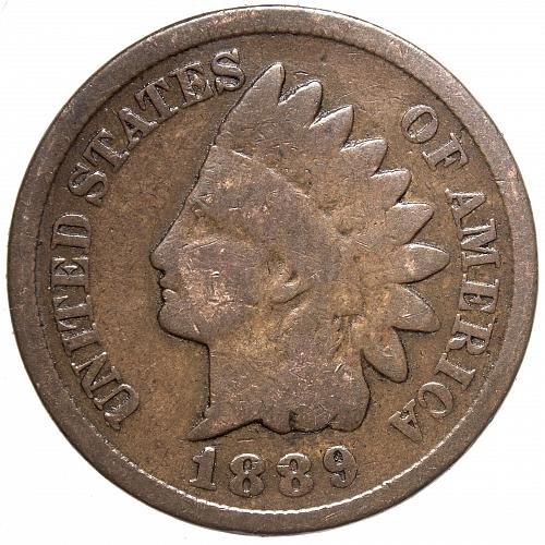 1889 P Indian Head Cent #24 Cleaned