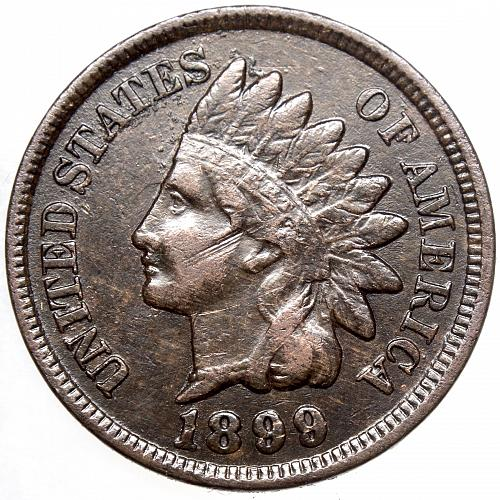 1899 P Indian Head Cent #27 Dark and abrasion on face as shown