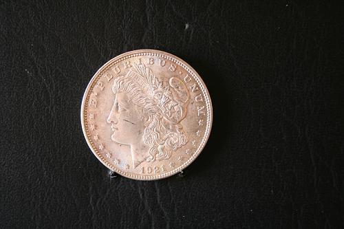 1921 Morgan Silver Dollar 90% silver 98 years old still looking Fine SKU 43T