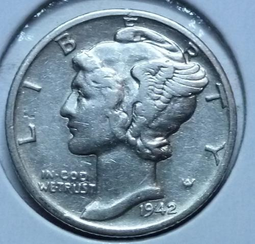 1942-D Very Fine Mercury Dime  VF ( 449)