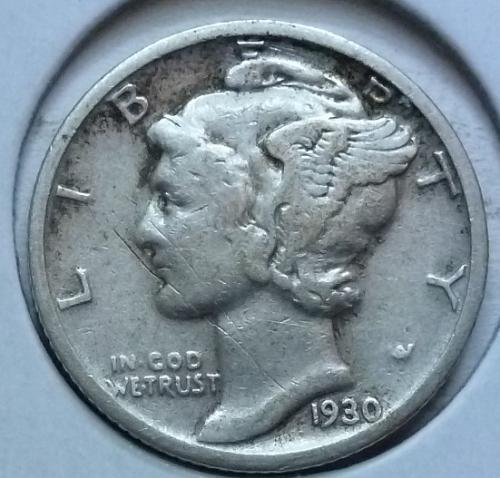 1930-S Very Fine Mercury Dime  VF ( 428)