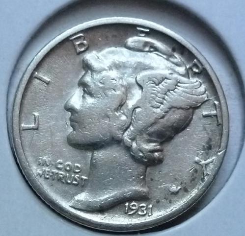 1931-P Very Fine Mercury Dime  VF ( 429)