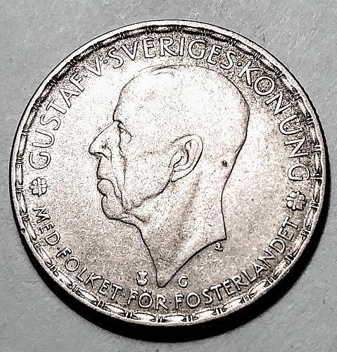 1943 SWEDEN SILVER ONE KRONA