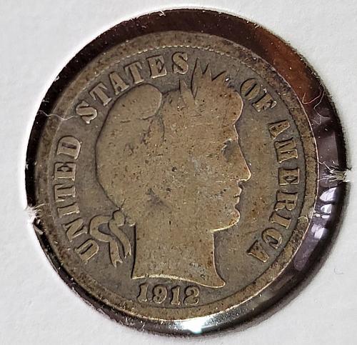 1912 D Barber Dime - 0075