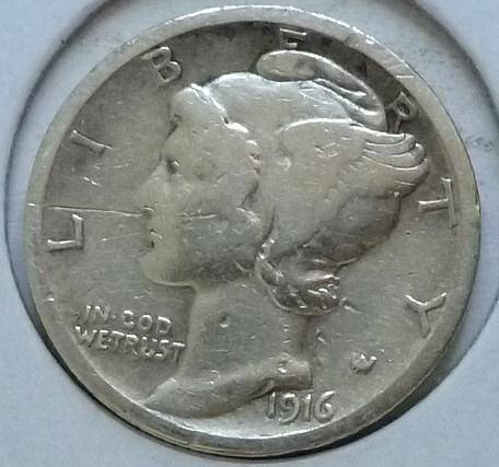 1916-S Very Good Mercury Dime   ( 401)