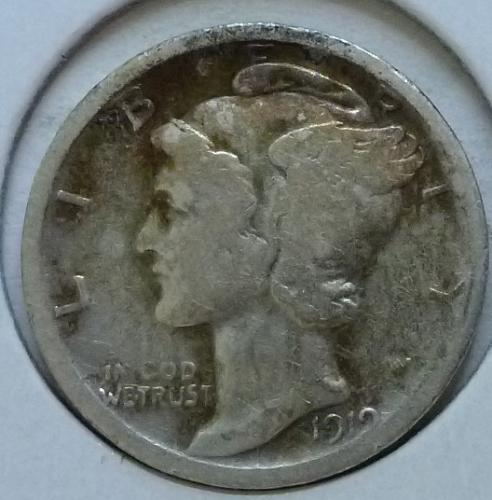1919-D Very Good Mercury Dime   ( 409)