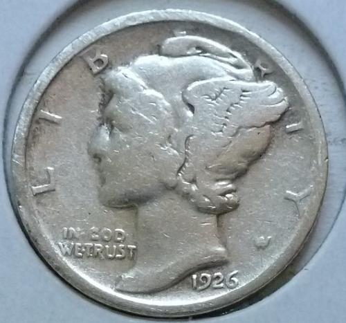 1926-D  GOOD Mercury Dime   ( 419 )