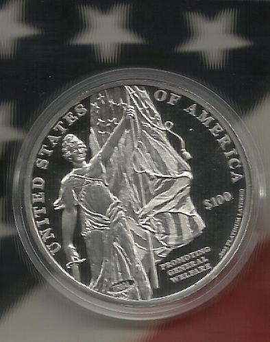 LIBERTY COMMEMORATIVE PROOF COIN - PLATINUM LAYERED AMERICAN MINT Limited Editon