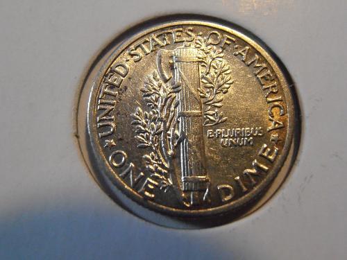 1938 P Mercury Silver Dime (38PJS)