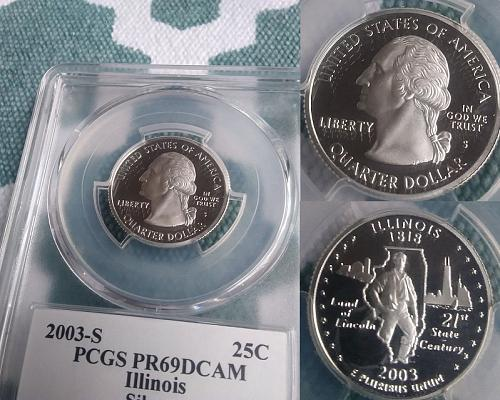 2003-S Illinois quarter (Silver) certified PR69 PCGS