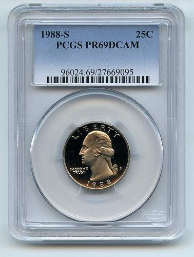 1988 S 25C Washington Quarter Proof PCGS PR69DCAM