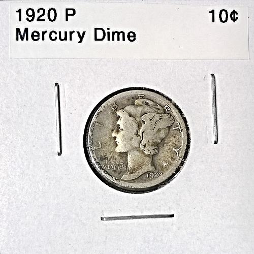 1920 P Mercury Dime - 4 Photos!