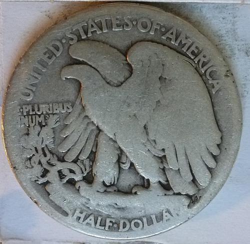 1917-S OBVERSE Very Good Walking Liberty Half Dollar  ( 2370 )